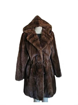 504a250a0c Image Unavailable. Image not available for. Color: Women's New Mink Fur  Coat Jacket Stroller with Detachable Hood