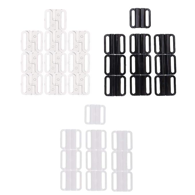 Homyl 30 Par Clips Sujetadores Cierre de Sujetador Correa Posterior Accesorios Lencería Bikini Fastener - Negro, 25 mm: Amazon.es: Ropa y accesorios