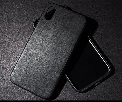 sale retailer 0ec65 65fe1 Luxury Super Slim Leather Alcantara Suede Durable Protective Cover Case for  Apple iPhone X (2018)