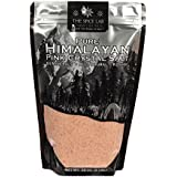 The Spice Lab Pink Himalayan Salt - Fine Ground 2lbs - Gourmet Pure Crystal - Nutrient and Mineral Dense for Health - Kosher & Natural Certified