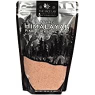 The Spice Lab Pink Himalayan Salt - Fine Ground 2lbs - Gourmet Pure Crystal - Nutrient and Mineral Fortified for Health - Kosher & Natural Certified