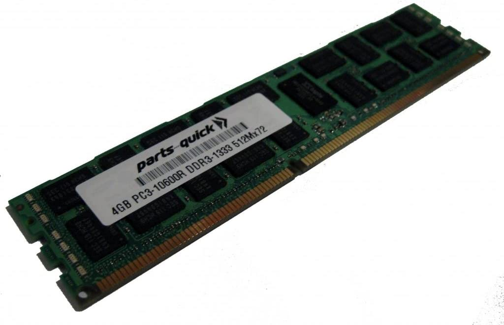 4GB Memory Upgrade for Dell Precision Workstation T7500 DDR3 1333MHz PC3-10600 ECC Registered Server DIMM (PARTS-QUICK Brand)