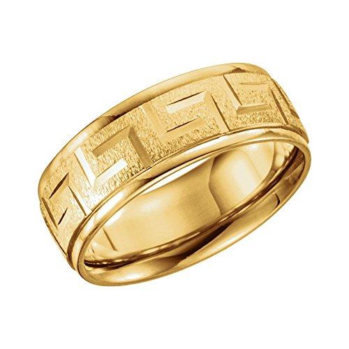 14kt Gold Greek Key Design - 7