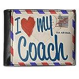 Wallet I Love my Coach, Vintage Letter, RFID Men's Bifold ID Case - Neonblond
