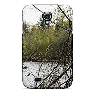 New ROUBCUJ1012ZvCgz Stuck River Springtime Skin Case Cover Shatterproof Case For Galaxy S4