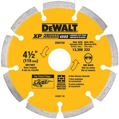 Chaser Crack - DEWALT DW4740 4-1/2-Inch by .250 XP tuck point blade