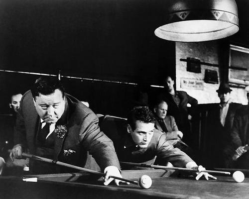 The Hustler Featuring Paul Newman Jackie Gleason about to break 11x14 Promotional Photograph