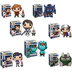 Funko Troll Hunters Toby, Bullar, Blinky, Armored Toby, Jim with Gnome, AARGH, Claire with Gnome Pop Vinyl Figures Set