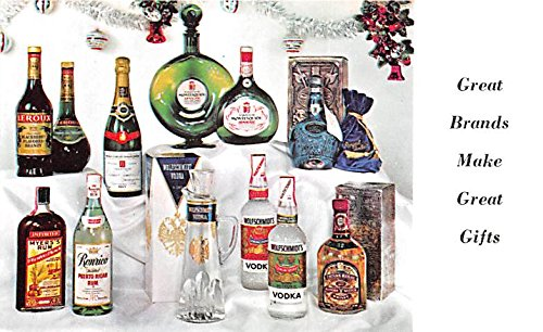 - Wine and Liquor Advertising Old Vintage Antique Post Card Wolfschmidt Vodka Unused