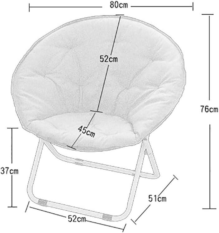 MXRzdya Folding Chairs Adult Moon Chair Sun Chair, Folding Chair Radar Chair, 100kg PP Cotton Canvas Lounge Chair, Steel Sofa Chair (Color : C) D