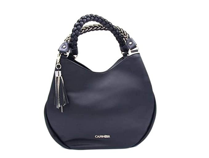 889feededb Café Noir BHI451 nero borsa shopping bag sacca spalla donna: Amazon.it:  Abbigliamento
