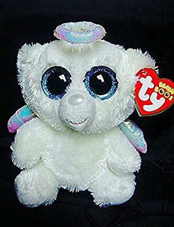 0a82f945393 Amazon.com  IN HAND NEW TY BEANIES BOOS SERIES STUFFED ANIMAL BIG EYES  eyes~Snow white Bear HALO ANGEL~15cm Cute Plush doll  Baby