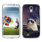 LASTONE PHONE CASE / Slim Protector Hard Shell Cover Case for Samsung Galaxy S4 I9500 / Funny Grump Cat Snowshoe Siamese