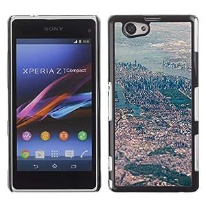 For Sony Xperia Z1 Compact / Z1 Mini / D5503 Case , View Big City River Landscape - Diseño Patrón Teléfono Caso Cubierta Case Bumper Duro Protección Case Cover Funda