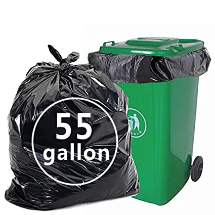 Amazon Nicesh 55 Gallon Lawn And Leaf Trash Bags Black 66 Counts Home Kitchen