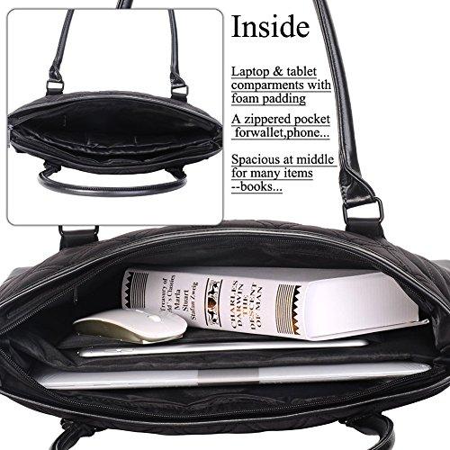 15 MacBook Inch Black 6 DTBG Handbag Laptop Classic Ultrabook Notebook Computer Nylon 6 Bag Black Pattern Shoulder Inch Tablet Tote 15 15 For Carrying Briefcase Laptop Bag Travel Diamond Business Xqw41AHn