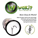 Wakit - Electric Herb Grinder | Unique Patented Ball and Chain Technology Grinds Spices & Herbs in Seconds - Perfect Grind as You Control the Grind and Texture Without Wasting Herb