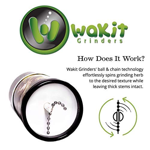 - Wakit - Electric Herb Grinder | Unique Patented Ball and Chain Technology Grinds Spices & Herbs in Seconds - Perfect Grind as You Control the Grind and Texture Without Wasting Herb