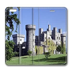 iphone 5s Case, Medieval Stone Castle Luxury Leather Flip Case Cover With Stand Feature for iphone 5s, Original Made by PhilipHayes