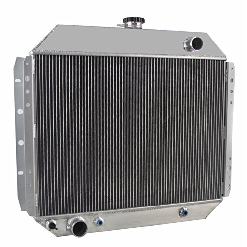 OzCoolingParts 66-79 Ford Radiator - 56mm 3 Row Core Aluminum Radiator for 1966-1979 Ford F100 F150 F250 F350 Truck Pickup, Bronco V8 Engine