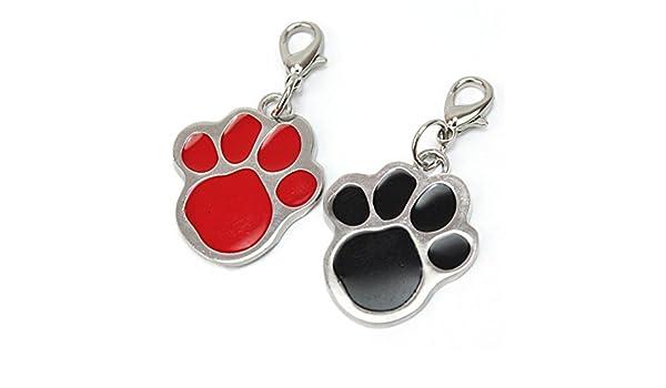 Amazon.com : 2Pcs Puppy Pet Dog Cat Paw Foot Print Collar Pendant : Pet Supplies