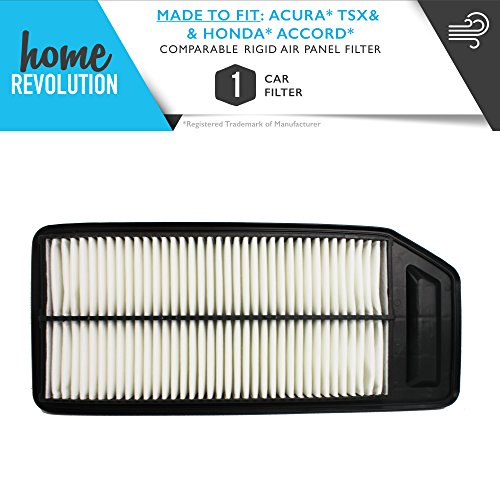 Cabin Part # A25503 & CA9564 for Acura TSX & Honda Accord, Comparable Rigid Air Panel Filter. A Home Revolution Brand Quality Aftermarket Replacement