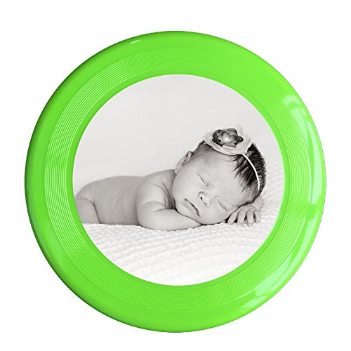 Skkoka Frisbee Newborn Baby Wearing Flower Clip Newborn Sleeping Sleep Black And White Baby Cute Frisbee Family Fun Group Game Variety Of Colors Durable Frisbee KellyGreen -