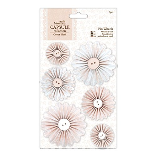 docrafts Papermania Oyster Blush Pinwheels, 6-Pack by DOCrafts