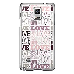 Loud Universe Samsung Galaxy Note 4 Love Valentine Printing Files A Valentine 181 Printed Transparent Edge Case - Multi Color