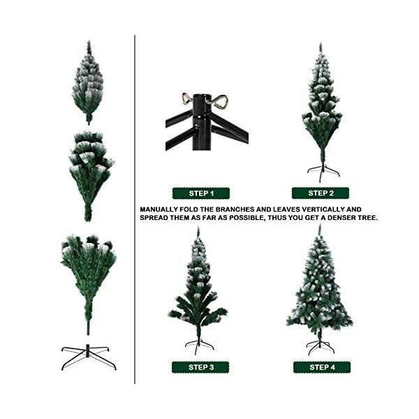TopVita Albero di Natale Bianco Verde, Albero di Natale Artificiale in PVC Ignifugodi in Diverse Misure (Verde e Bianco, 2,4 Metri) 3 spesavip
