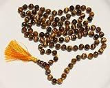 Tiger's Eye Hand-Knotted 108 Bead Mala with Guru Bead