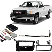 Fits GMC Sierra 07-11 Single DIN Aftermarket Harness Radio Install Dash Kit