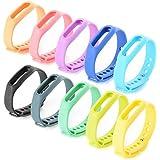 XCSOURCE® 10 pezzi braccialetto di ricambio Cinturino di ricambio fascia estensibili colorate per Xiaomi Wireless braccialetto intelligente mi Band th175