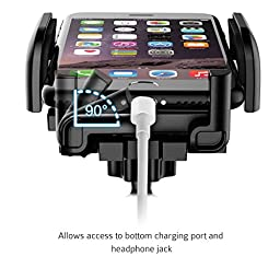 Mpow Car Phone Holder,CD Slot Car Phone Mount Universal Cell Phone Holder Car Cradle Mount with Three-Side Grips and One-Touch Design for iPhone 7/7Plus/6s/6Plus/5S, Galaxy S5/S6/S7/S8, Google Nexus, LG, Huawei and More
