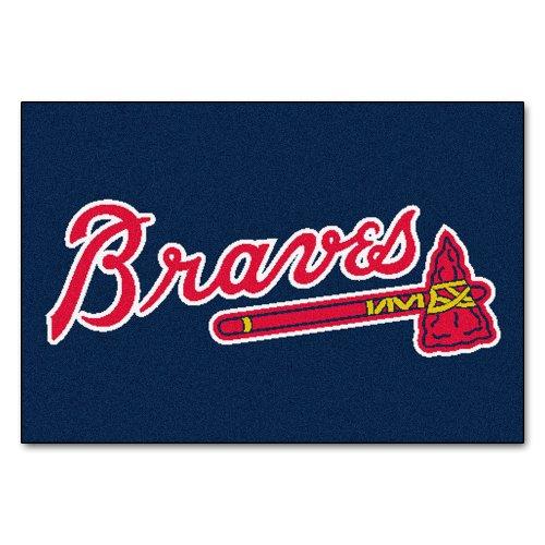 - Fanmats MLB Atlanta Braves Nylon Face Starter Rug