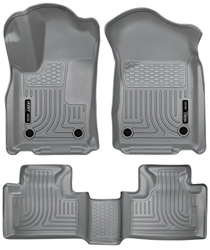 2016-2017 Jeep Grand Cherokee Weatherbeater Series Front & 2nd Seat Floor Liners (Footwell Coverage) - Grey
