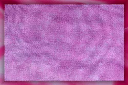Cross-Stitch Fabric Carnation Pink 17 x 19 Hand-Dyed 18 Count Aida Cloth