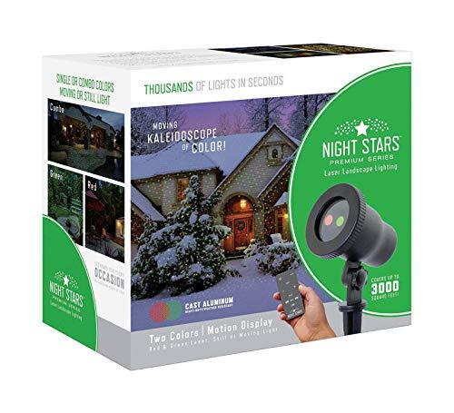 Night Stars Premium Red/Green Laser Landscape Light with Kaleidoscope