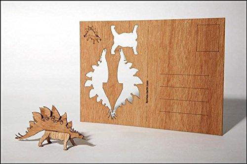 Stegosaurus Wood (Stegosaurus - Wooden Postcard)