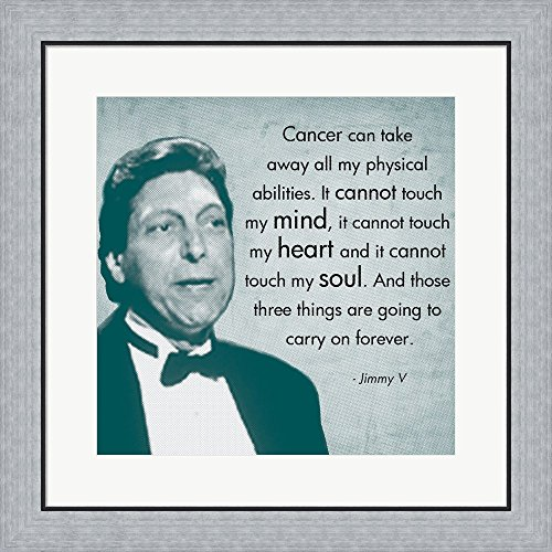 Those Three Things, Jimmy V Framed Art Print Wall Picture, Flat Silver Frame, 24 x 24 inches