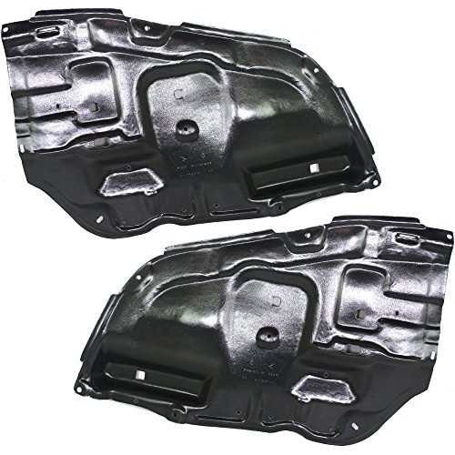 Splash Shield Mounting - Engine Splash Shield Set of 2 Compatible with 2005-2008 Toyota Avalon Touring Under Cover Right and Left Side