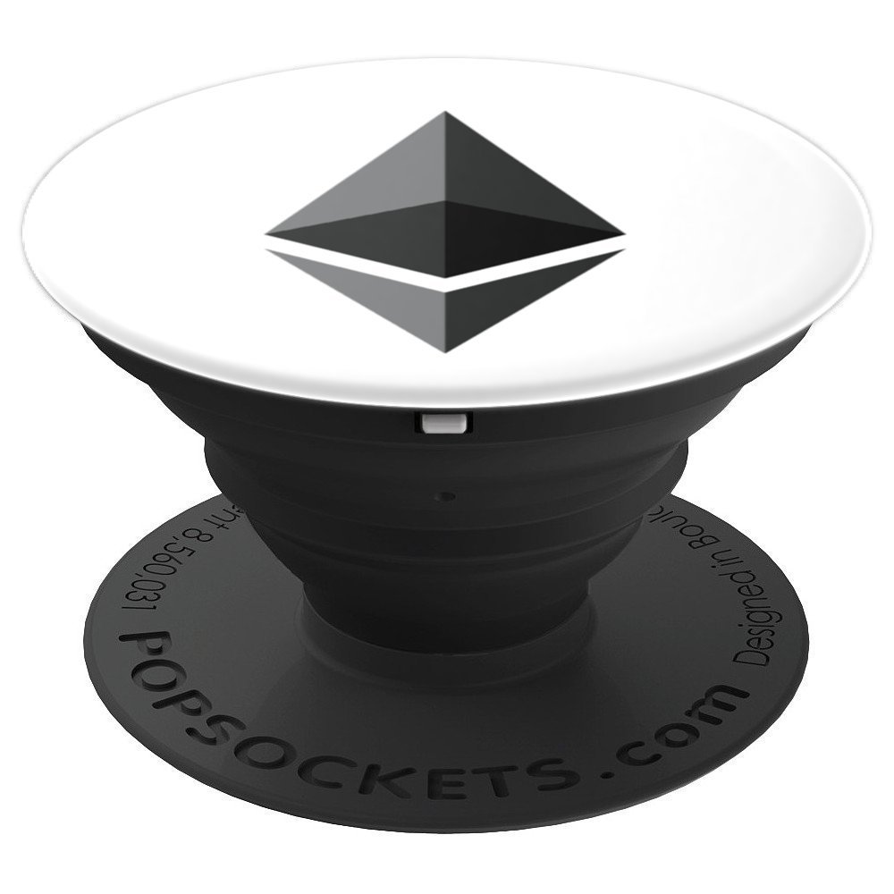 Ethereum Official Logo Cryptocurrency Emblem - PopSockets Grip and Stand for Phones and Tablets