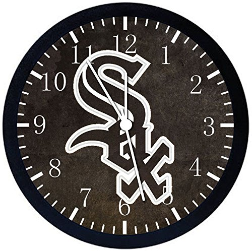 White Sox Black Frame Wall Clock F53 Nice For Gift or Office Home Wall Decor 10