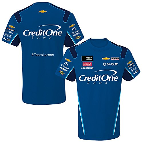 - SMI Properties Kyle Larson 2018 Credit One Sublimated NASCAR Pit Crew T-Shirt (XLarge)