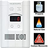 Nighthawk Plug-in Carbon Monoxide & Explosive Gas Alarm with Digital Display  KN-COEG-3