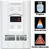 Nighthawk Plug-in Carbon Monoxide & Explosive Gas Detector Alarm with Digital Display | Model