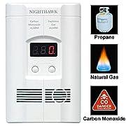 Nighthawk Plug-in Carbon Monoxide & Explosive Gas Alarm with Digital Display KN-COEG-3
