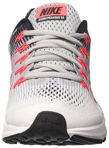 Nike Dameslucht Zoom Pegasus 33 Wolf Grijs / Wit / Zwart / Hete Stoot