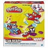 play doh captain america - Play-Doh Marvel Captain America, Spiderman, Venom Can-Heads Vehicles
