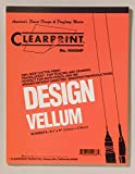 Clearprint 1000H Design Vellum Pad, 16 lb., 100% Cotton, 8-1/2 x 11 Inches, 50 Sheets, Translucent White, 1 Each (10001410)